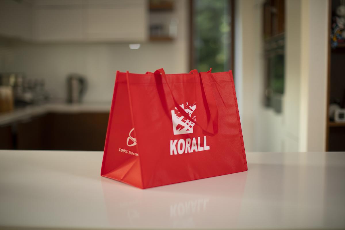 Könnyű, többször használatos textil bevásárló táska