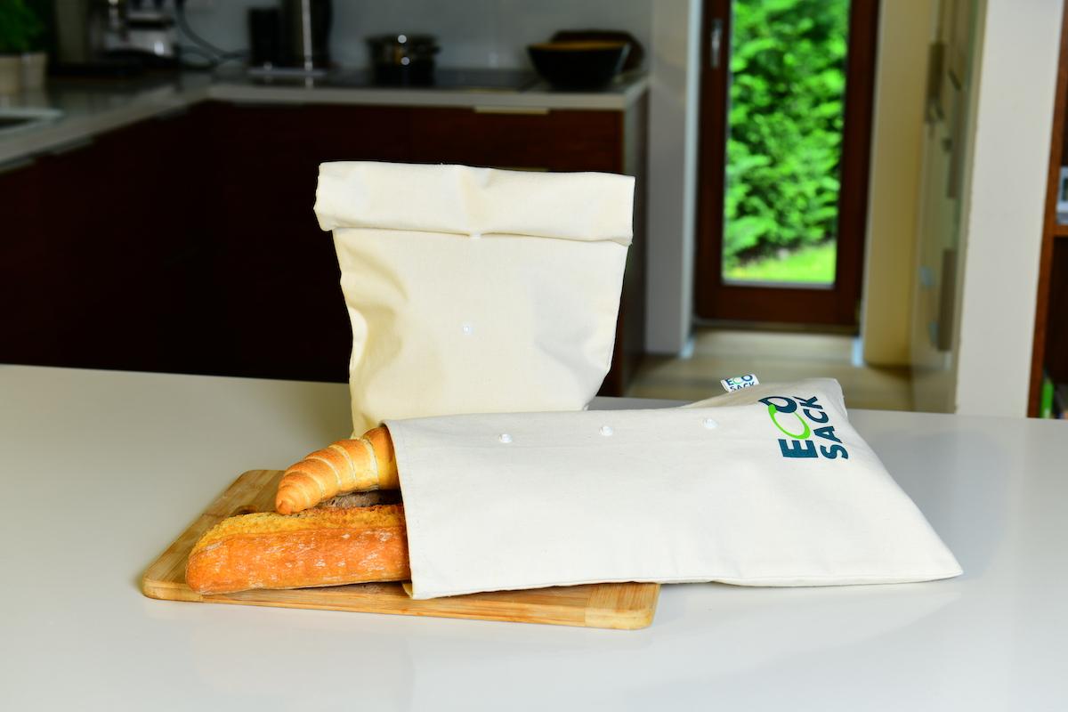 EcoSack patentos - bélelt vászon kenyereszsák